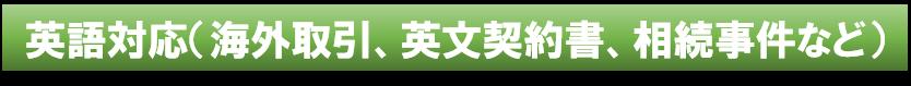 神奈川県川崎市の法律事務所|英語対応(海外取引、海外展開支援、英文契約書、相続事件など)